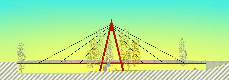 Puente cuatrovientos. Alzado